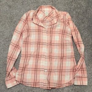 J. Crew pink button down shirt medium